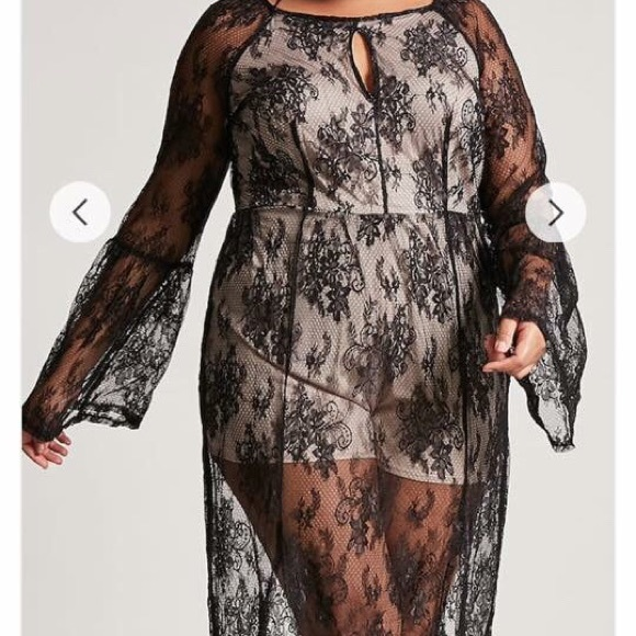 Dresses | Plus Size Sheer Lace Maxi Dress | Poshmark